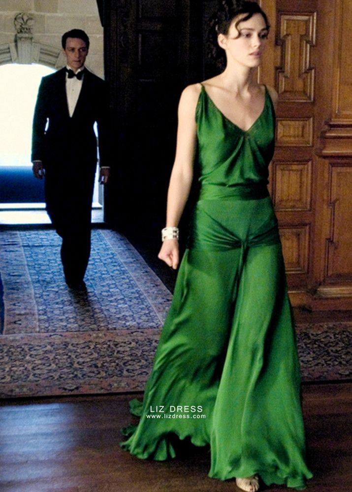 Keira Knightley Green Dress in Movie