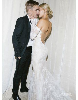 Kristen Stewart Bella Swan White Long Sleeve Celebrity Wedding Dress In Movie Twilight,Wedding Dresses 2020 Summer