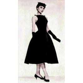Audrey Hepburn Little Black Tea Length 1950s Celebrity Dress Sabrina