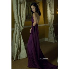 Eva Green Purple Dress Casino Royale James Bond Fashion