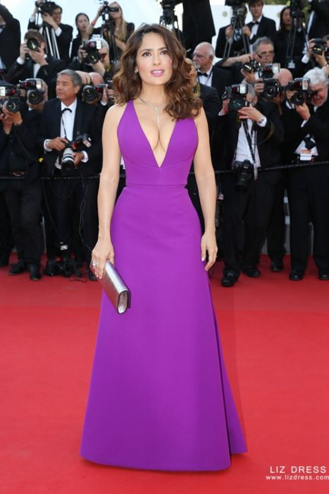 V Neck Formal Celebrity Dress Cannes 2017