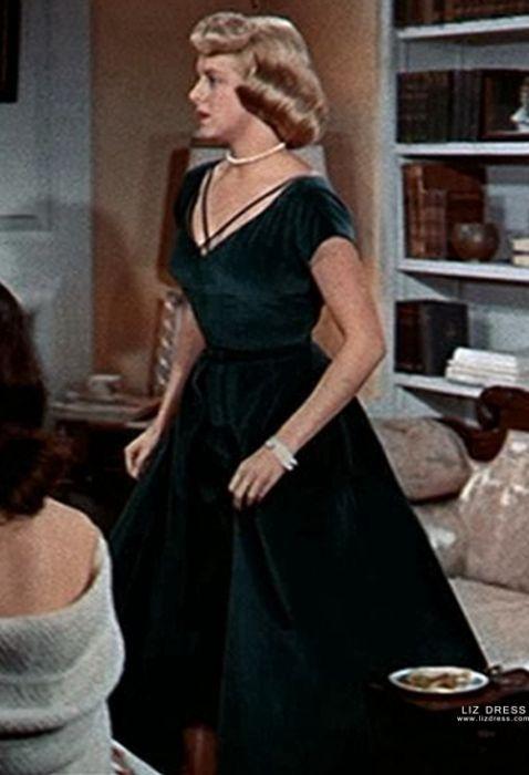 Rosemary Clooney Green Velvet Dress 1950s Movie White Christmas