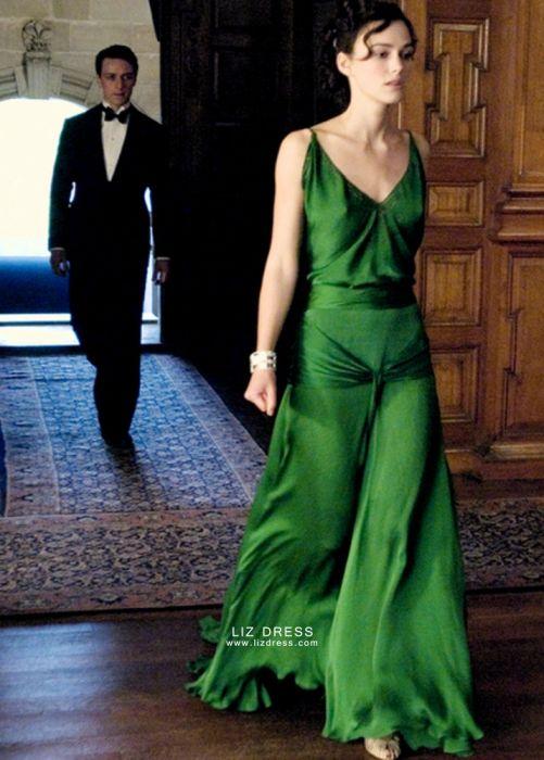 Keira Knightley Green Dress in Movie