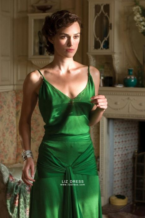 Keira Knightley Green Dress in Movie Atonement