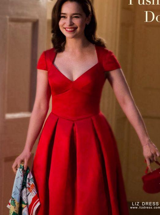 Emilia Clarke Red Dress Me Before You