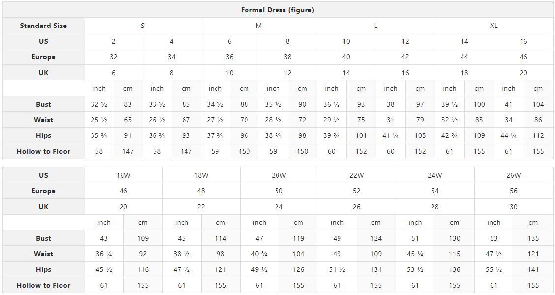 LizDress Size Chart